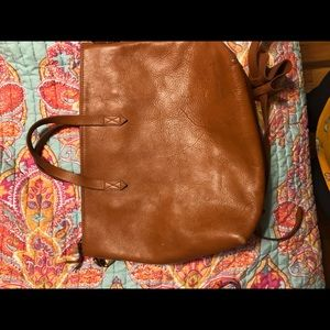 Madewell authentic leather tote